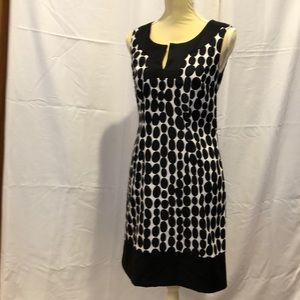 AGB Black and White Patterned Dress